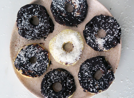 Donuts de manzana con chocolate