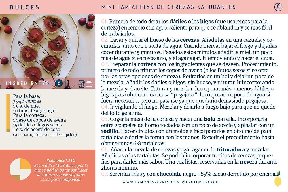 Tartaletas de cerezas | Lemon's Secrets