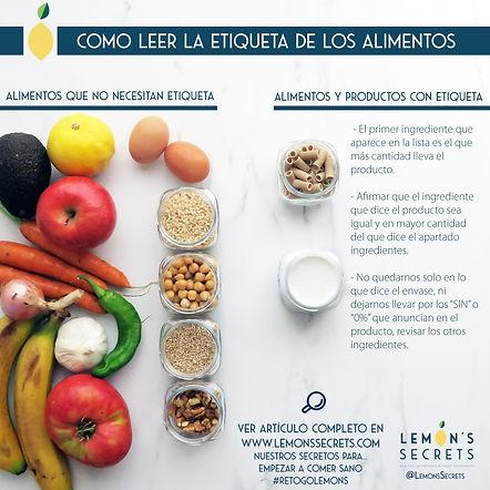 Como leer la etiquta de los alimentos