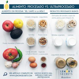 Como saber diferenciar entre alimento, producto procesado y ultraprocesado