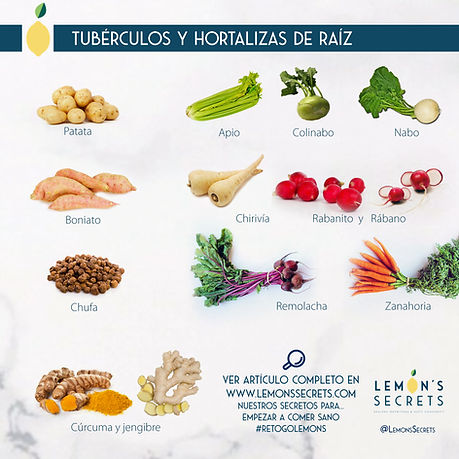 Tubérculos y hortalizas de raí | Lemon's Secrets