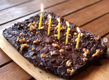 Paleo brownie para celebrar los 5 años lemoneros