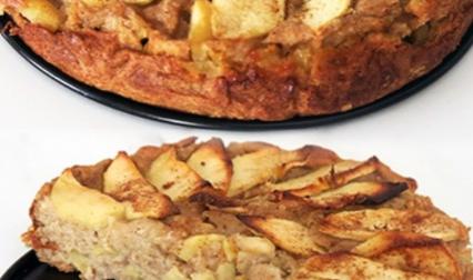 Pastel de manzana y pera sin huevo, sin azúcares y sin lactosa