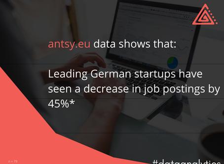 Leading German startups decrease job openings by 45%