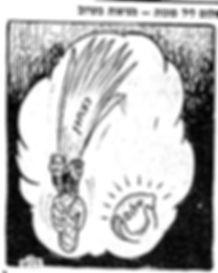 """Dream on the Eve of Sukkot—Reality to Follow Shortly,"" Cartoon, Maariv Newspaper, October 10, 1973"