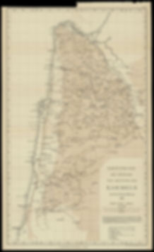 Map of the North of Israel, 1907