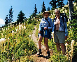 Pat & Ira Spring on Sunrise Peak  July 1