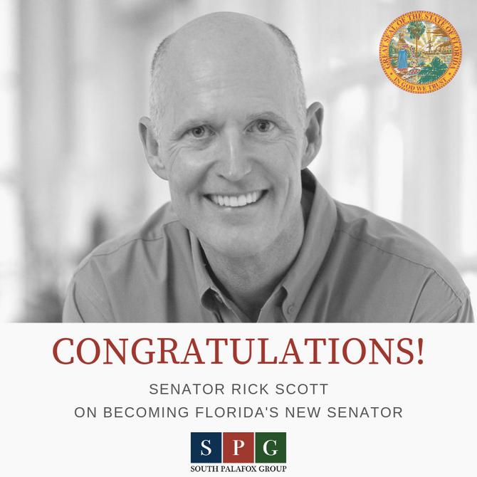Congratulations Senator Rick Scott