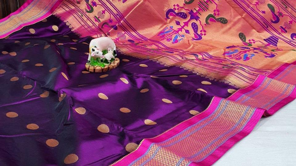 Paithani Semi Silk Saree