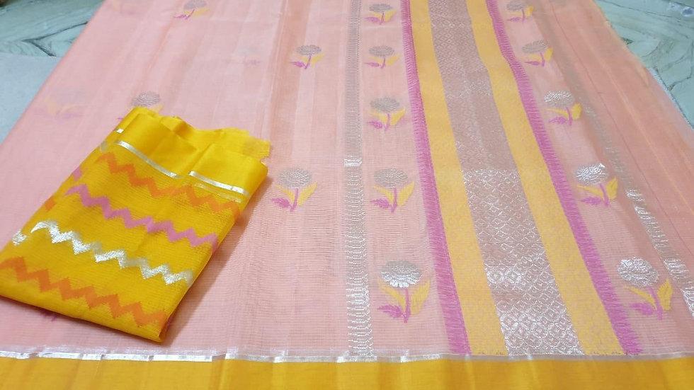 Pure Zari Kota Silk Saree with designer blouse