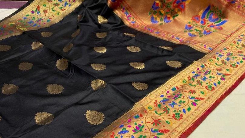Paithani raper silk saree