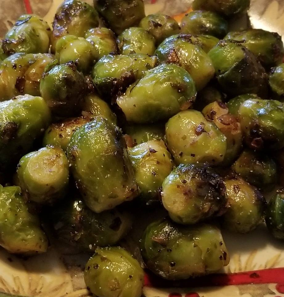 Duck Fat Roasted Brussels