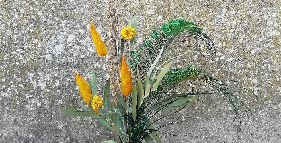 Bouquet Lapis-lazulie avec vase