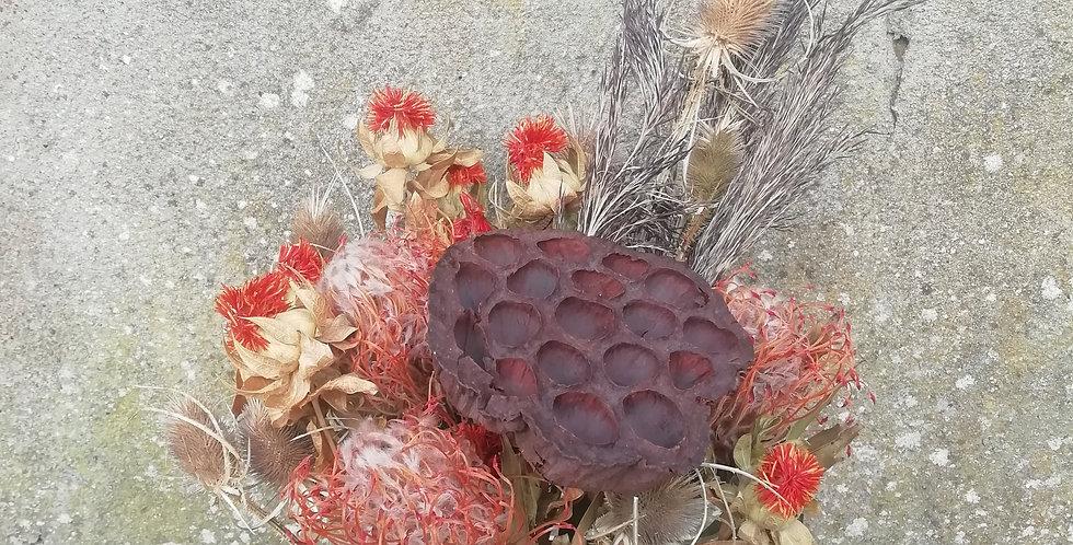 Bouquet quartz fumé