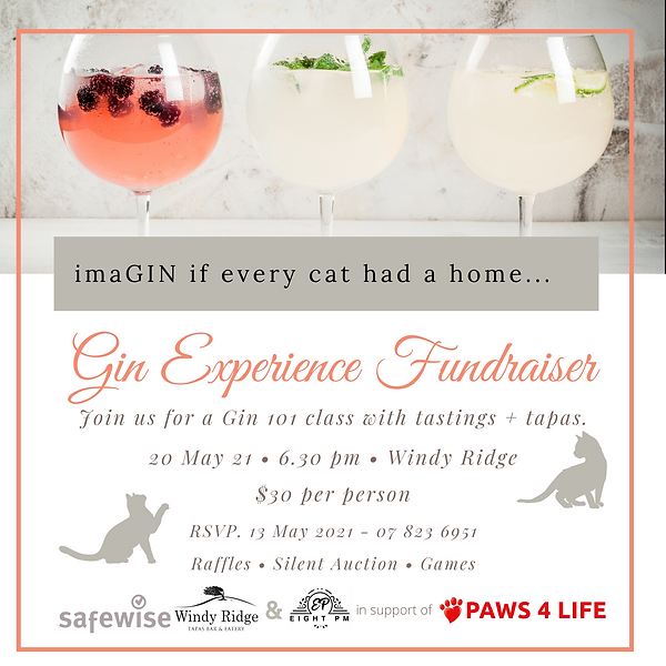 Gin night fundraiser - Paws 4 life.png
