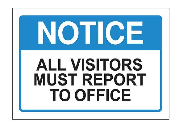 Visitor Notice (PVC)