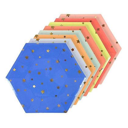 Estrellas Multicolor Plato Grande