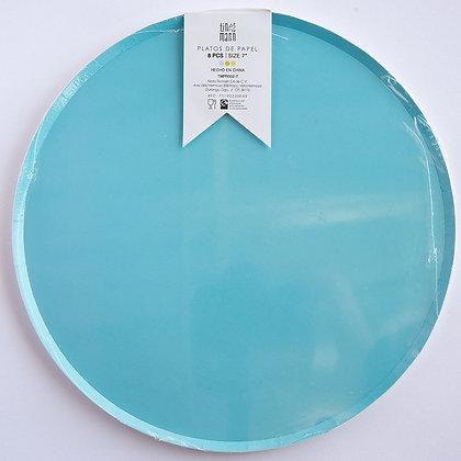 Plato Azul Claro Grande