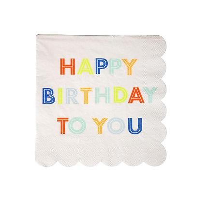 Happy Birthday To You Servilletas