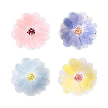 Platos flores chico