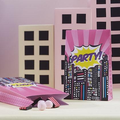 Superheroe Rosa bolsa dulces