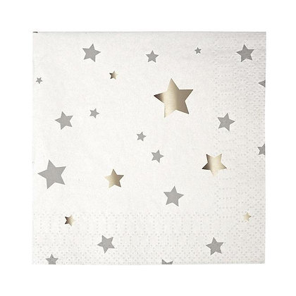 Estrellas plateas servilletas