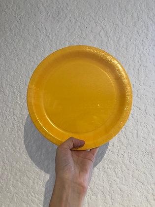 Plato Liso Amarillo grande