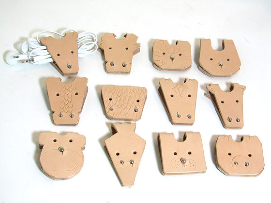 Chinese zodiac cable holders