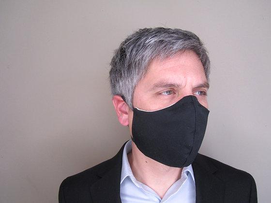 Washable face mask with polypropylene filter
