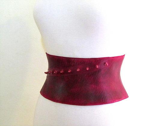 Fuchsia corset belt