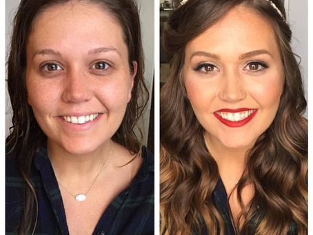 2016 Makeup Before & After