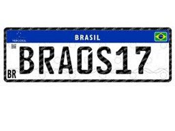 Placa Mercosul - Automóvel (Unidade)