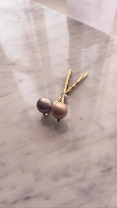 Pink + Lavender Pearl Pins (Set of 2)