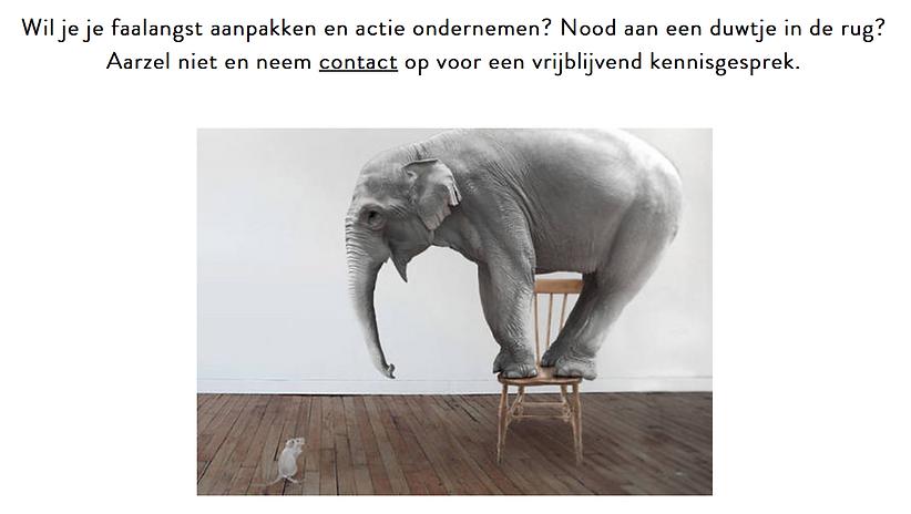 Contacteer Anthentiek om actie te ondernemen tegen faalangst. Ieder in de regio van Hasselt Limburg kan bij haar terecht.