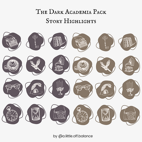 The Dark Academia Pack Story Highlights