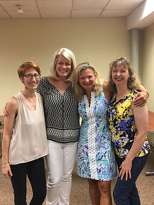 Rebecca Drake at Mystery Lover's Bookstore with Lisa Scottoline, Annette Dashofy, and Natalie Sacco