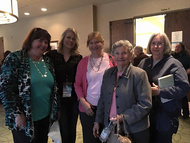 Rebecca Drake with the Virginia Traveling Bookclub