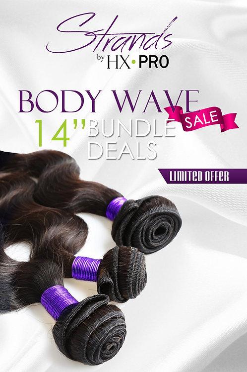 Strands 7A Peruvian Body Wave: 3 Bundles Sale