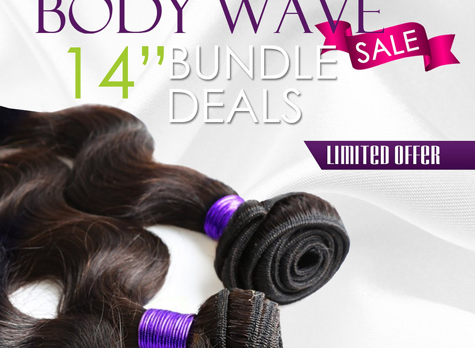 Strands 7A Peruvian Body Wave: 3 Bundles Sale