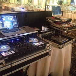 wedding dj setup
