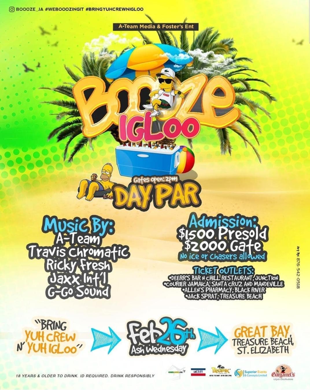 2-26-2020 Booze Igloo Day Par