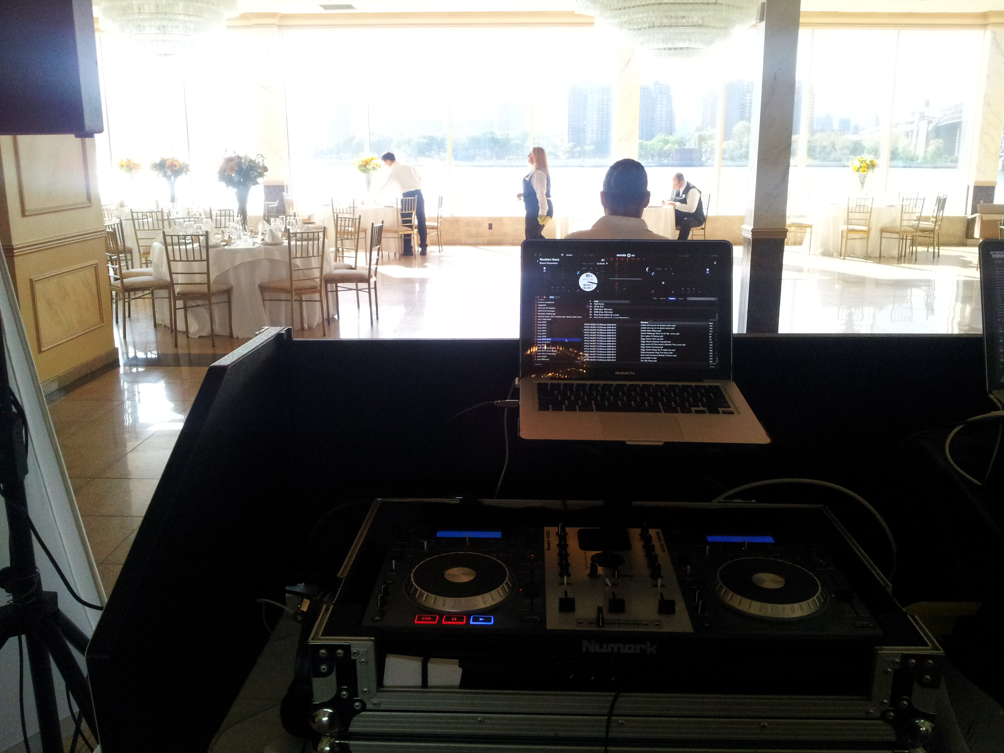 wedding ceremony dj setup
