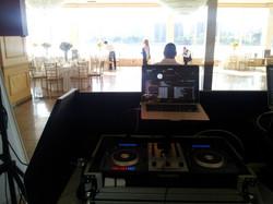 wedding ceremony dj setup