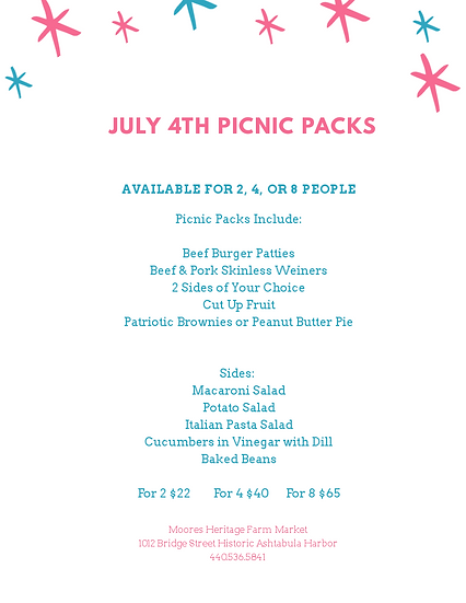 4th of July Picnic Pack for 8