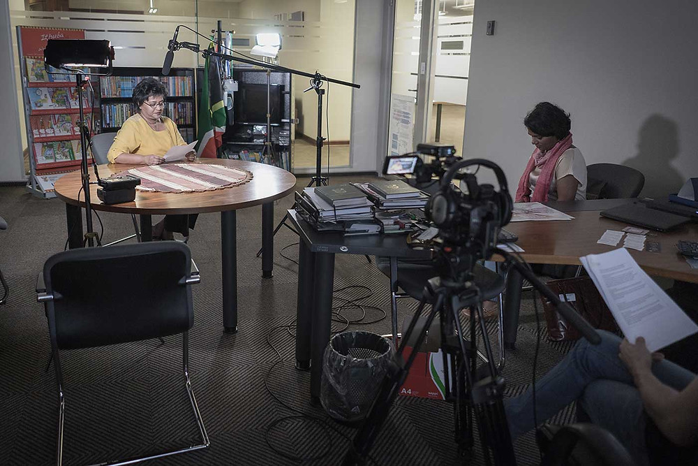 The Incubate Video Crew prepare for an interview
