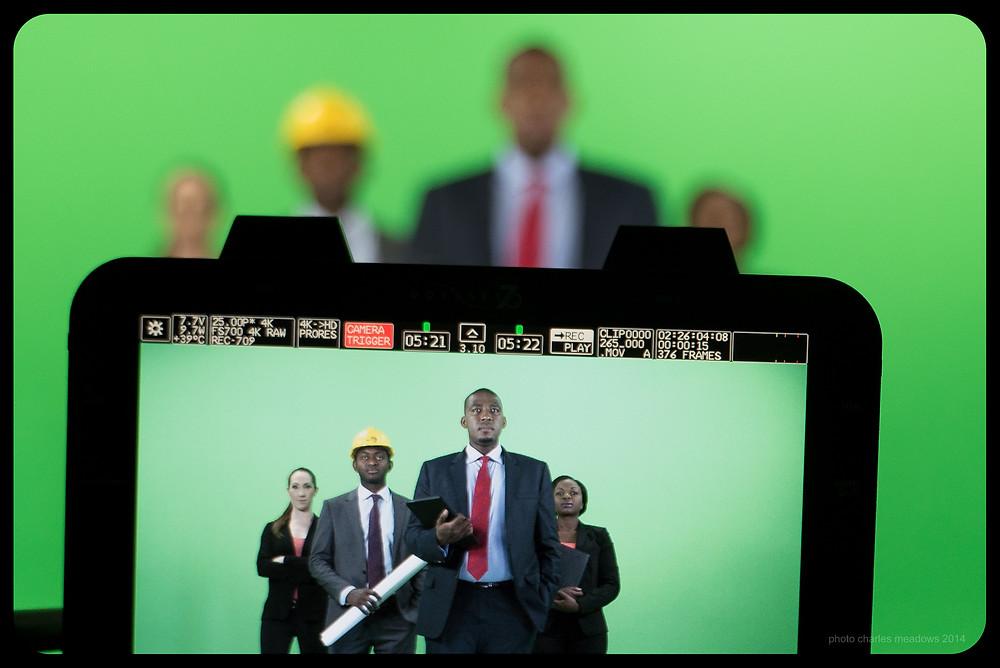 In studio filming a corporate video for GladAfrica