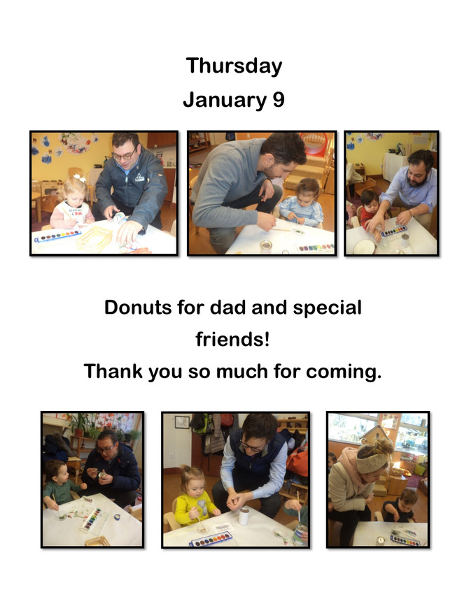 Donuts for Dads (and special visitors) in Room Alef