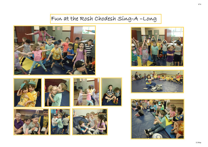 Room Chet Celebrates Rosh Chodesh At a School Wide Sing Along!