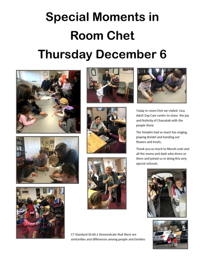 Room Chet Spreads Chanukah Light to Lina Adult Day Care Center