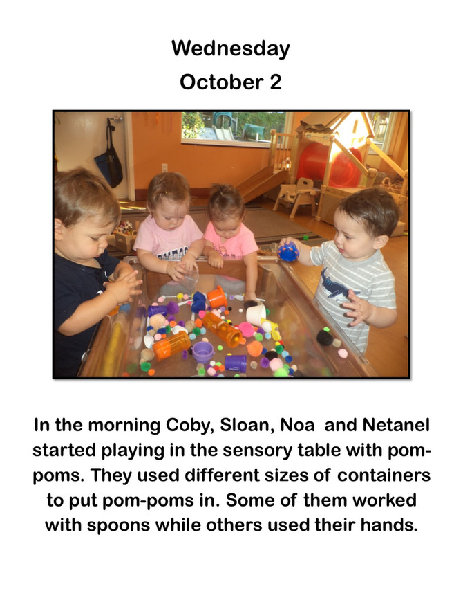 Room Alef Strengthens Hand-Eye Coordination with Pom Poms